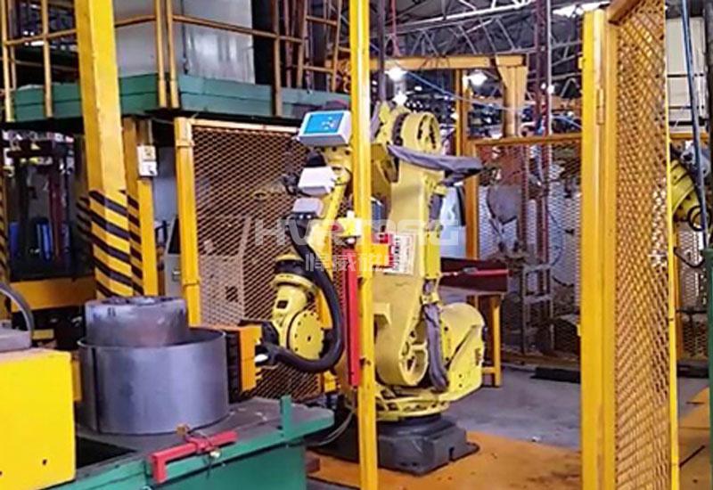 出口斯里兰卡电永磁铁配合机器人爪手搬运钢圈
