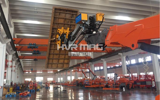 充电式磁力吊具搬运钢筋混凝土模板