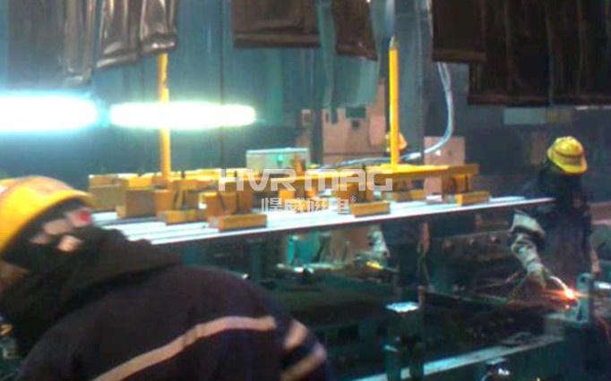 波纹金属板吊具优选悍威磁电研发的重型起重磁铁