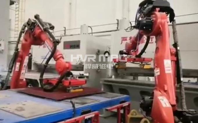 用于金属剪切上下料的磁力抓手