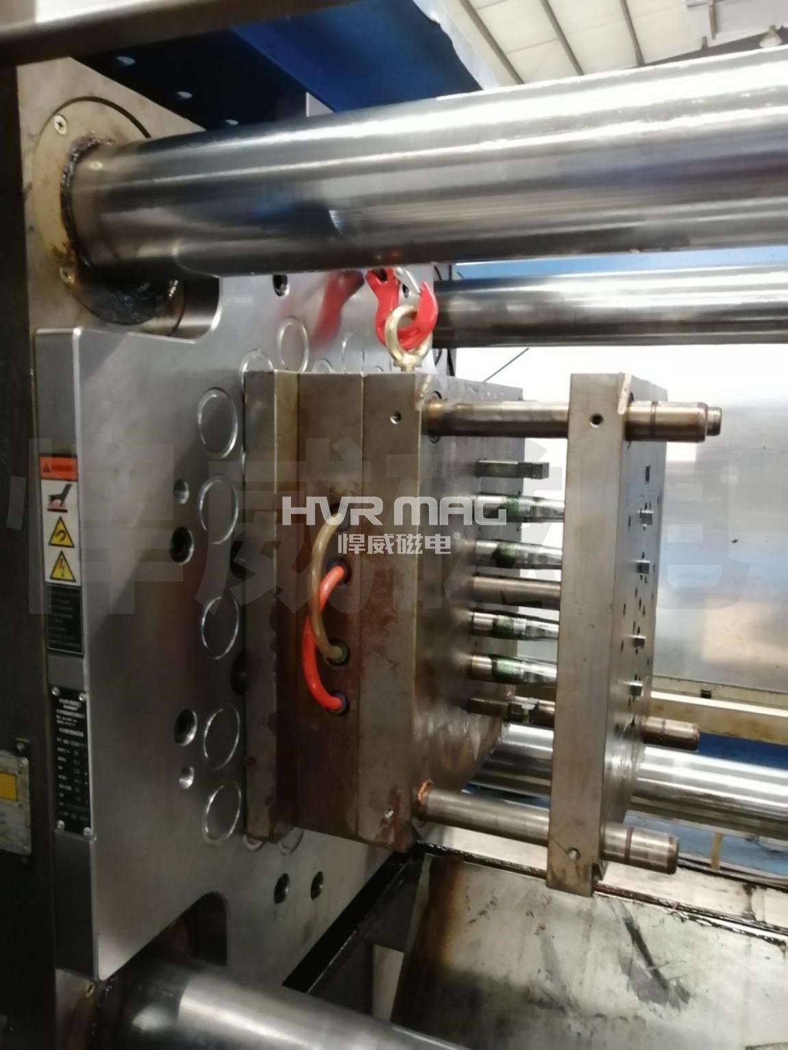 夹/紧/合模过程不用电的注塑机磁力换模系统