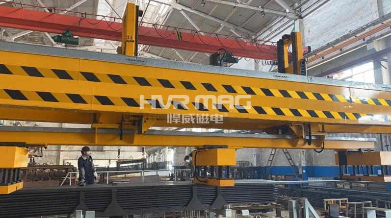 桁架自动化设备配合电永磁铁搬运的优势