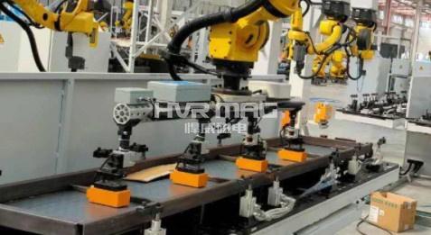 机器人电永磁吸盘爪手快速装夹搬运钢板