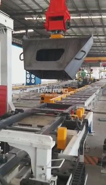 电永磁铁在自动化智能制造中的应用 桁架机械手磁力抓夹