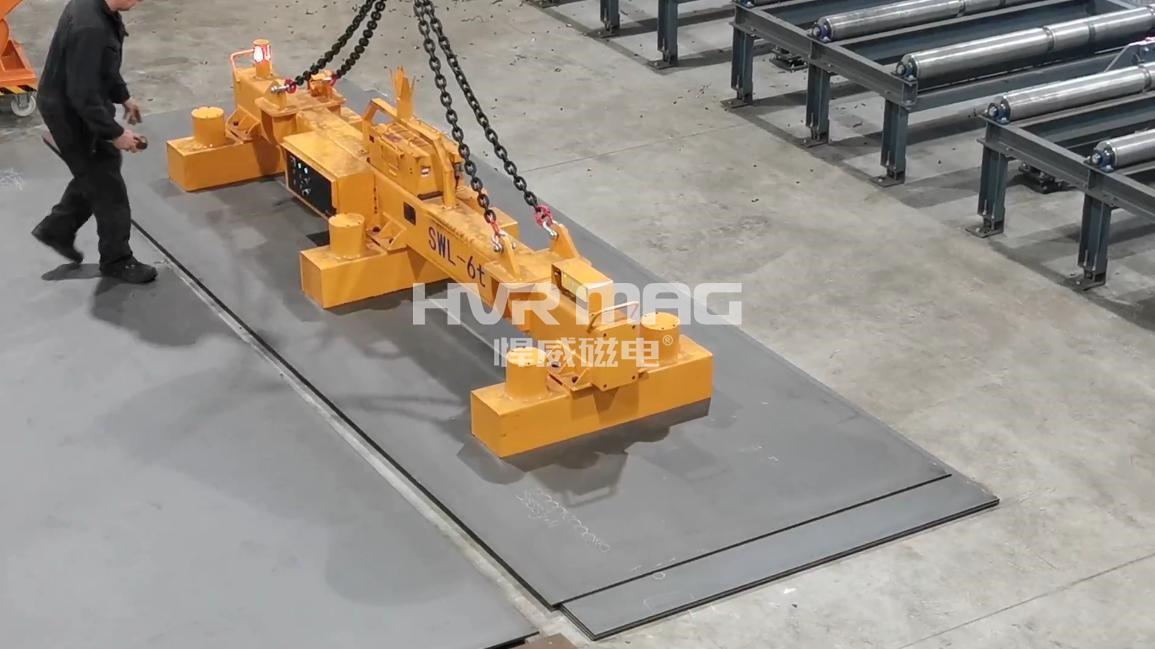 磁力起重技术创新 - 充电式钢板磁力吊具