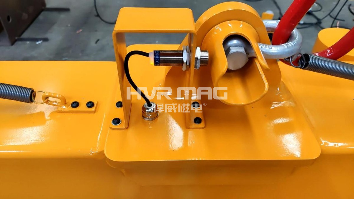 磁力吊具的落地检测功能,悍威磁电保障安全生产,又进一步