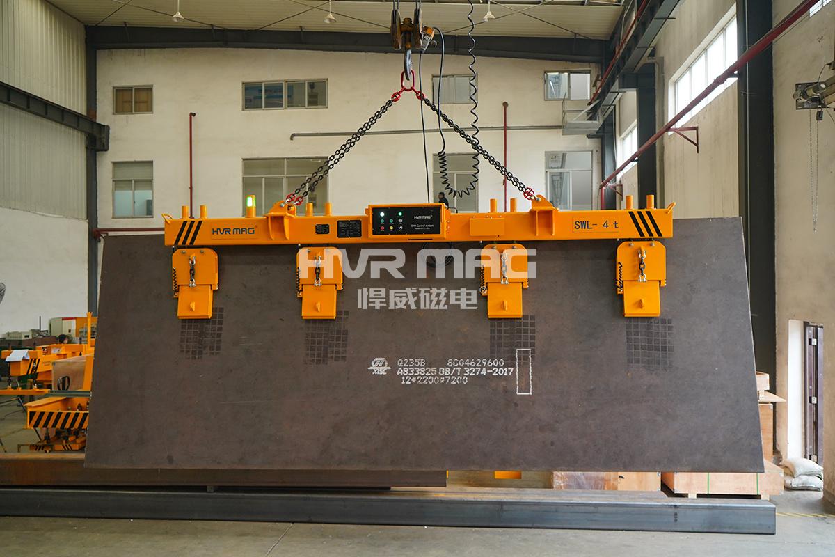 6吨钢板磁力吊具出口美国,侧吊型钢板吊具已超美国技术